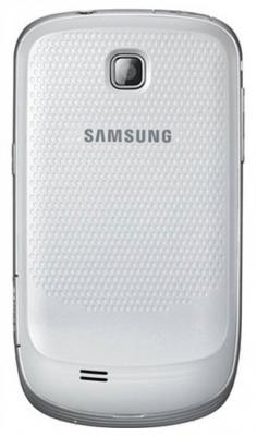 Смартфон Samsung S5570 Galaxy Mini White (GT-S5570 CWISER) - вид спереди