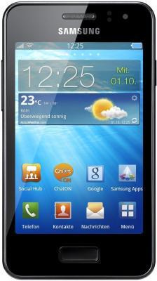 Смартфон Samsung S7250 Wave M Dark Silver (GT-S7250 MSDSER) - вид спереди