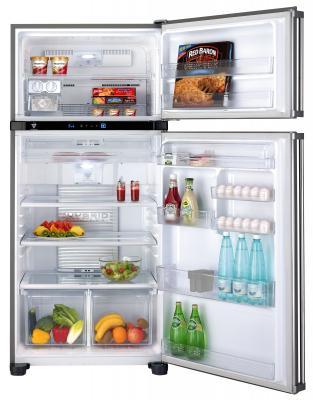 Холодильник с морозильником Sharp SJ-T690RBE - общий вид