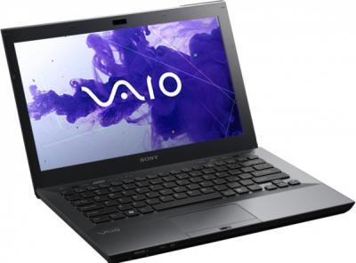 Ноутбук Sony VAIO VPCSA3X9R/XI - спереди повернутый
