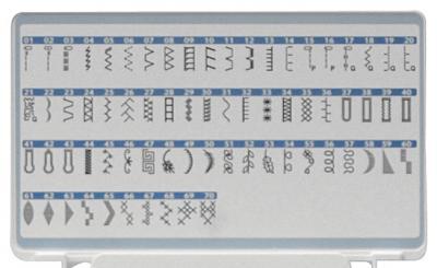 Швейная машина Brother JS-70E - образцы строчек