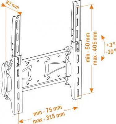 Кронштейн для телевизора Holder LCDS-5028 - схема