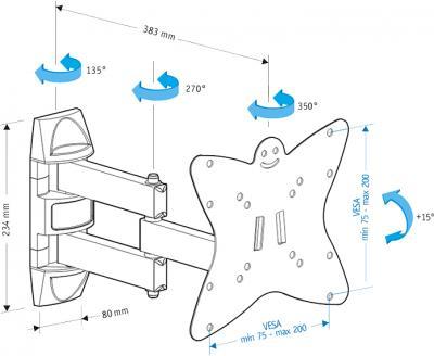 Кронштейн для телевизора Holder LCDS-5038 - схема