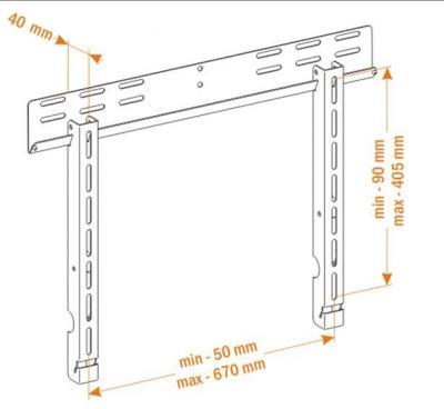 Кронштейн для телевизора Holder PFS-4010 (металл) - вид спереди