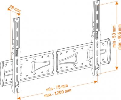 Кронштейн для телевизора Holder PFS-4015 Metallic - вид спереди