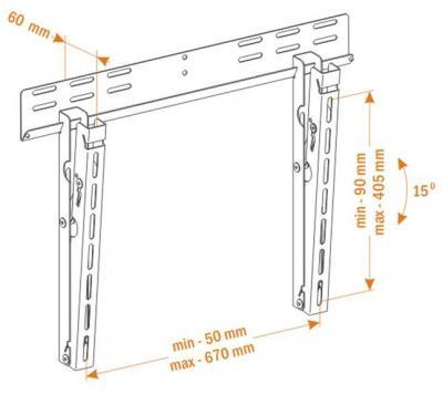 Кронштейн для телевизора Holder PTS-4011 (металлик) - вид