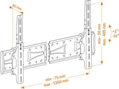 Кронштейн для телевизора Holder PTS-4016 Metallic - вид спереди