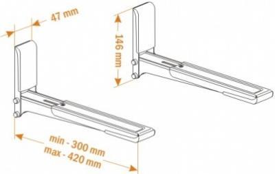 Кронштейн для СВЧ Holder MWS-2003 (металл) - схематическое изображение