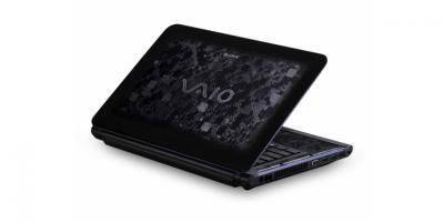 Ноутбук Sony VAIO VPCCA3X1R/BI - полуоткрытый сзади