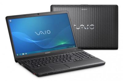 Ноутбук Sony VAIO VPCEH2L1R/B - спереди и сзади