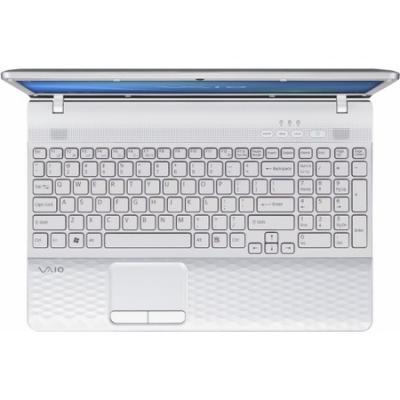 Ноутбук Sony VAIO VPCEH2L1R/W - сверху открытый