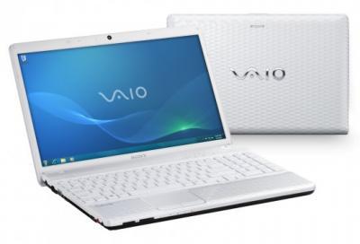 Ноутбук Sony VAIO VPCEL2S1R/W - спереди и сзади