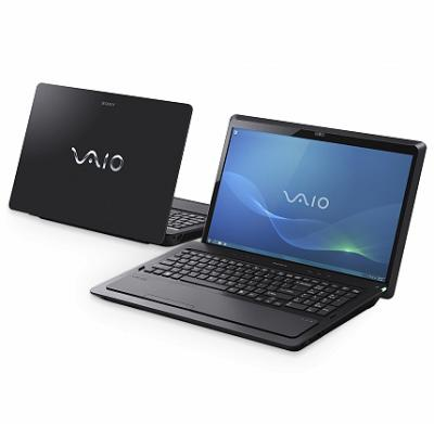 Ноутбук Sony VAIO VPCF23S1R/B - спереди и сзади