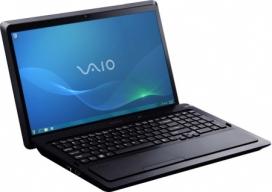 Ноутбук Sony VAIO VPCF23X1R/BI - спереди повернут