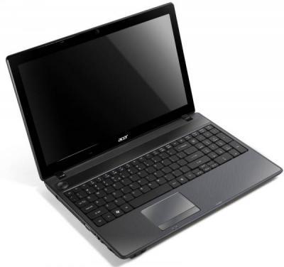 Ноутбук Acer Aspire 5749Z-B952G32Mikk (LX.RR80C.017) - спереди повернут открытый