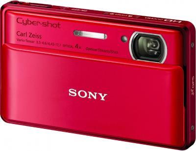 Компактный фотоаппарат Sony Cyber-shot DSC-TX100V Red - Общий вид