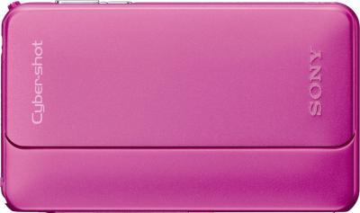 Компактный фотоаппарат Sony Cyber-shot DSC-TX10 Pink - Вид спереди