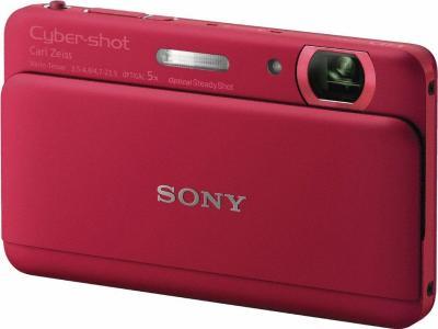 Компактный фотоаппарат Sony Cyber-shot DSC-TX55 Red - Общий вид