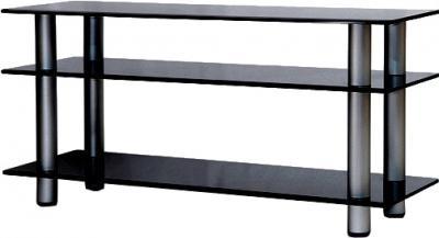Стойка для ТВ/аппаратуры Поливестстрой PLc 32/3/4 (черно-графитовый) - общий вид