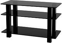 Стойка для ТВ/аппаратуры Поливестстрой PLq 32/3/4 Grafit-Black -