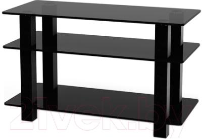 Стойка для ТВ/аппаратуры Поливестстрой PLq 32/3/4 Grafit-Black