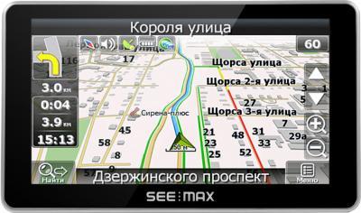 GPS навигатор SeeMax navi E610 HD 8GB - вид спереди