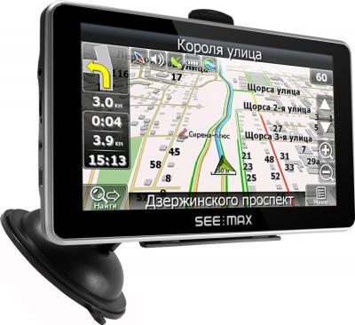 GPS навигатор SeeMax navi E610 HD 8GB - вид сбоку