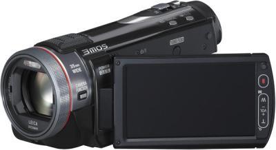 Видеокамера Panasonic HDC-SD900 - общий вид с повёрнутым ЖК-дисплеем