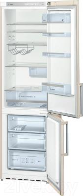 Холодильник с морозильником Bosch KGV39XK23R - внутренний вид