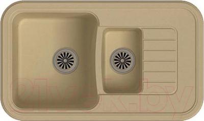 Мойка кухонная Ewigstein Antik 60KF (бежевый)