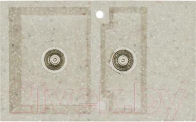 Мойка кухонная Alveus Cubo 20 (бежевый) - общий вид (образец цвета может отличаться от реального цвета мойки