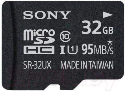Карта памяти Sony microSDHC 32 Gb Class 10 UHS-1 + адаптер (SR32UXAT) - общий вид