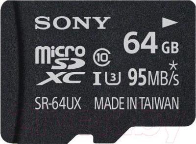 Карта памяти Sony microSDXC (Class 10) 64GB (SR64UXAT) - общий вид