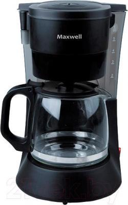 Капельная кофеварка Maxwell MW-1650 BK - вид спереди