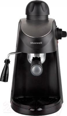 Кофеварка эспрессо Maxwell MW-1655 BK - вид спереди