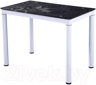 Обеденный стол Signal Damar 100x60 (черно-белый)