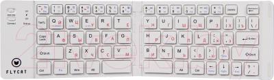 Клавиатура Flycat KB22 (белый) - общий вид