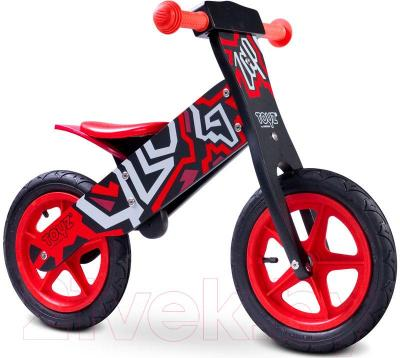 Беговел Toyz Zap (черно-красный) - общий вид