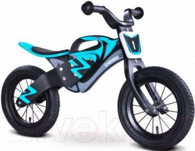 Беговел Toyz Enduro (черно-синий) - общий вид