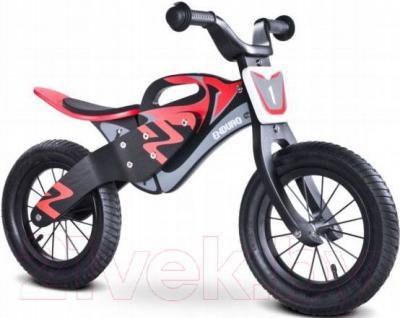 Беговел Toyz Enduro (черно-красный) - общий вид