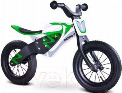 Беговел Toyz Enduro (бело-зеленый) - общий вид