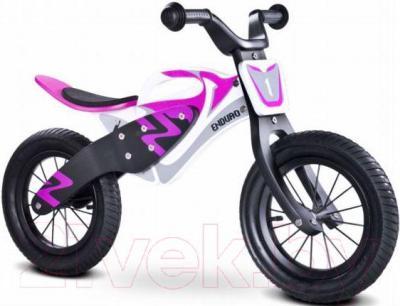 Беговел Toyz Enduro (бело-фиолетовый) - общий вид