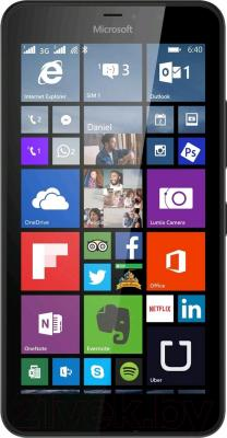 Смартфон Microsoft Lumia 640 Dual (черный) - общий вид