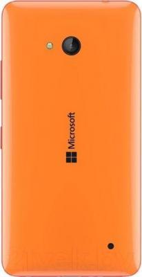 Смартфон Microsoft Lumia 640 Dual (оранжевый) - вид сзади
