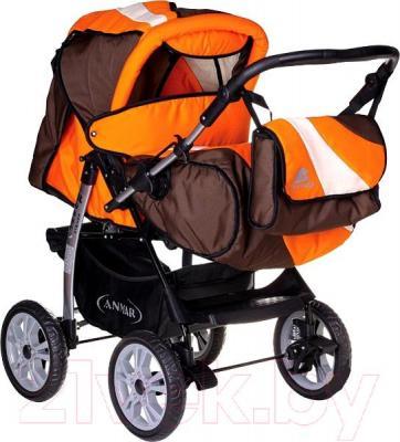 Детская универсальная коляска Anmar Rosse Golden (оранжево-коричневый) - общий вид