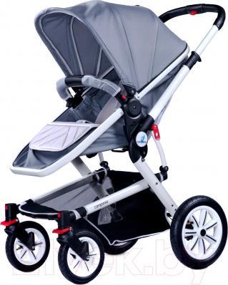 Детская универсальная коляска Caretero Compass (серый) - общий вид