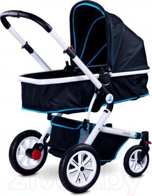 Детская универсальная коляска Caretero Compass (темно-синий) - люлька