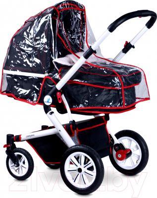 Детская универсальная коляска Caretero Compass (темно-синий) - дождевик