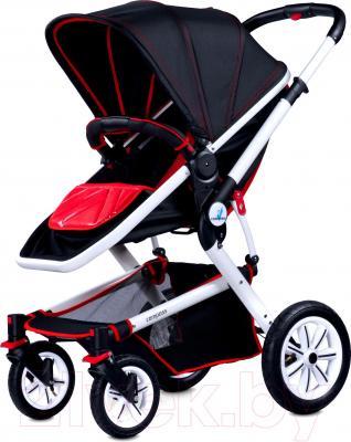 Детская универсальная коляска Caretero Compass (красный) - общий вид