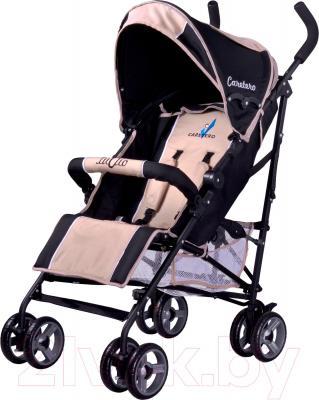Детская прогулочная коляска Caretero Luvio (бежевый) - общий вид